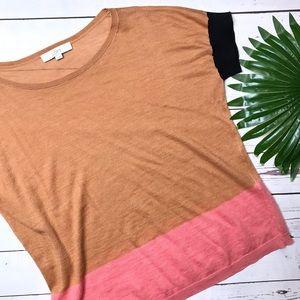•Loft• sz XL colorblock top